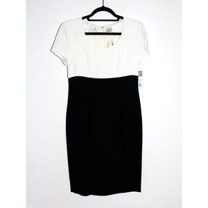 Vintage Liz Claiborne Black and White Sheath Dress